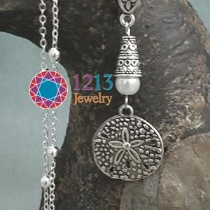 Artist Created STERLING CHAIN Sand Dollar Necklace